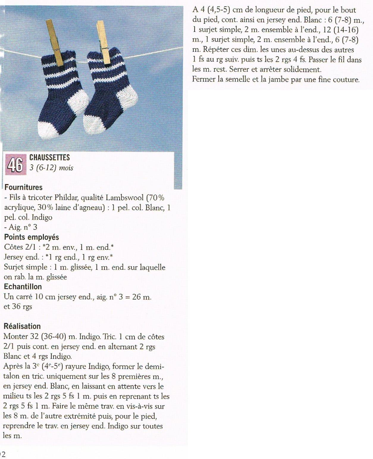 tricoter facilement des chaussettes dans ouvrages chaussettes